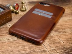 Brown iPhone 8 Case, Leather iPhone 8 Case, iPhone 8 plus Case, Leather iPhone 8 plus Case, Leather Iphone Leather Case, Iphone Wallet Case, Iphone 7 Plus Cases, Phone Case, Handmade Leather Wallet, Brown, Initials, Smooth, Fit