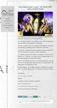 La web Marile Eventos recomienda Vin Doré 24K