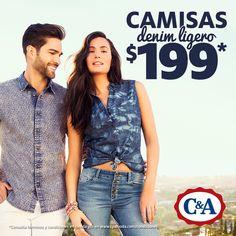 ¡Vengan a C&A por sus camisas denim!