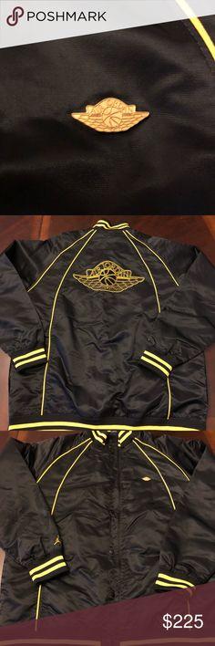 black and yellow jordan varsity jacket