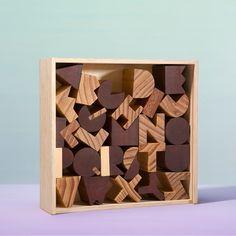 Wooden Alphabet Set    Areaware
