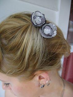 Retro Style Hair Flower by WaterBabiesArts on Etsy, $8.00