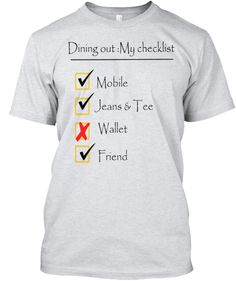 Dining out: Limited period Tshirt