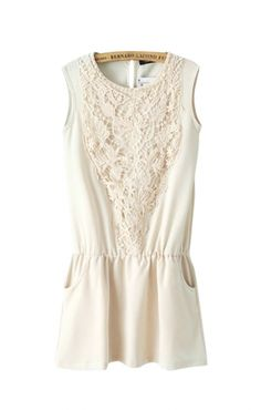 lace romper with pockets <3