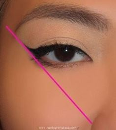 Okay. This is one of the biggest secrets to perfect winged eye liner!!!