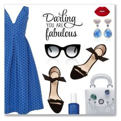 """Darling you are fabulous!"" by dressedbyrose ❤ liked on Polyvore featuring Bahina, Thierry Lasry, Alexandre Birman, WALL, Essie, Lime Crime, ootd and polyvoreeditorial"