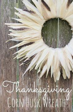 Make a Corn Husk Wreath - Dollar Store Crafts