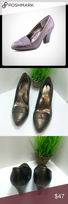 Sofft Bronze Leather heels Soft Abena Smog Bronze Leather Pumps. Pointed Toe. The man-made outsole lends lasting traction and wear. 3.5 inch heel   Women's size 7.5M  Offers welcomed! Would love to work a deal to get these shipped off to you! Sofft Shoes Heels