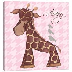@rosenberryrooms is offering $20 OFF your purchase! Share the news and save!  Jackie Giraffe in Pink Canvas Reproduction #rosenberryrooms