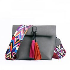 Perilla Women Messenger Bag Brand Designer Tassel Colorful Strap Crossbody Bag For Girls Shoulder Bag Female Small Flap Handbags Shoulder Backpack, Crossbody Shoulder Bag, Shoulder Bags, Crossbody Bags, Girls Bags, Leather Tassel, Pu Leather, Leather Design, Cross Body Handbags