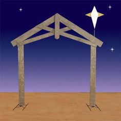 Life Size Nativity Stable with Star 2D Display 94H $399.00 Proudly Made In The USA. (Ask about our layaway!) http://www.christmasnightinc.com/c108/Life-Size-Nativity-Stable-with-Star-2D-Display-94H-p1311.html#