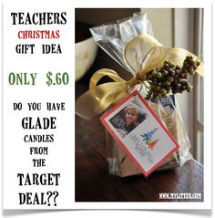 Teacher's Gift Idea for Christmas (Do you have Glade candles from Target?)