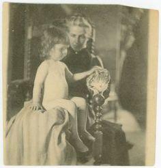 Amelia C. Van Buren with Nude Child and Cat | TriArte: Art & Artifacts Database}
