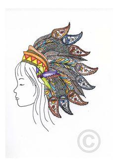 just the headdress as a tattoo.. flippin sweet.