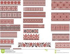 Patterns For Embroidery Stitch, Red And Black - Download From Over 61 Million High Quality Stock Photos, Images, Vectors. Sign up for FREE today. Image: 51032485