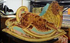 Antique child's collie (lassie) themed rocking horse. Price: $334.00 http://www.theguildshop.org/arf-arf-lassie