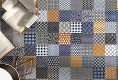 7 Flooring Newcomers With Texture, Metallics and Graphics | Companies | Interior Design