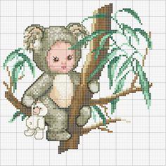 Koala Baby in a tree. Color pattetn