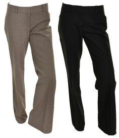 Kirkland Womens Wool Blend Dress Pants 6 12 Ligthweight Italian Wool Stretch NEW #KirklandSignature #DressPants