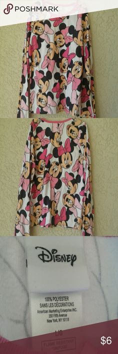 Disney Minnie Mouse Top Pink and white Minnie Mouse Top. Disney Shirts & Tops Tees - Long Sleeve