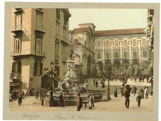 P.Z, Italie Naples Piazetta Monteoliveto    #Europe #Italia #Naples_Napoli