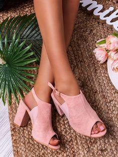 Dámske štýlové ružové sandále LL905-82 Heeled Mules, Peeps, Peep Toe, Shoes, Fashion, Moda, Zapatos, Shoes Outlet, Fashion Styles