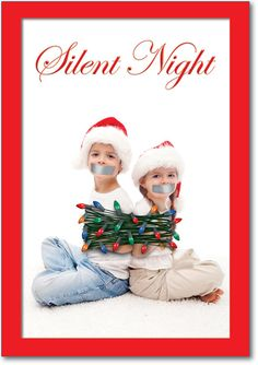 Funny Christmas Card Silent Night
