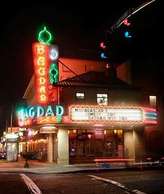 Bagdad Theater & Pub, Portland, #Oregon // Cool Neon Signs Around the World