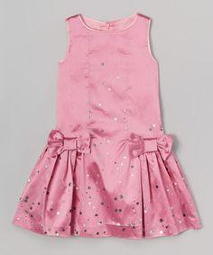 Loving this Pink Bow Dress - Girls on #zulily! #zulilyfinds