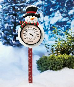 Snowman Thermometer & Snow Gauge Promotion - http://mydailypromo.com/snowman-thermometer-snow-gauge-promotion.html