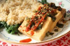 Scallion and Sesame Marinated Tofu (Vegan and Gluten-Free)