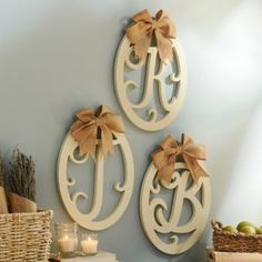 The Cream Wooden Monogram Wall Plaques are perfect for gifts! #Kirklands #vintagechic #monogram