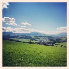 View from Hirzel towards Rigi. This is where Siidegarte is from, where we live and produce our hand-dyed silk yarn.