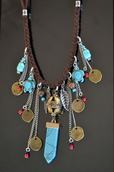 Long Necklace Long Boho Necklace Bohemian Tribal by LKArtChic