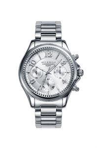 Reloj Viceroy Penélope Cruz, unicolor plata en todos sus acabados de primera calidad, función de cronometro y cristal de zafiro, para una mejor visión de la hora. www.relojes-especiales.net #unicolor #cronografo #acero