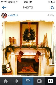 2012 holiday mantle