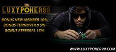 Situs Poker Online Indonesia telah Resmi yaitu luxypoker99.co , Memberikan permainan Poker Online Indonesia dengan hanya minimal deposit 10rb.