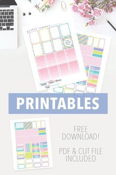 Free Pastel Planer Stickers
