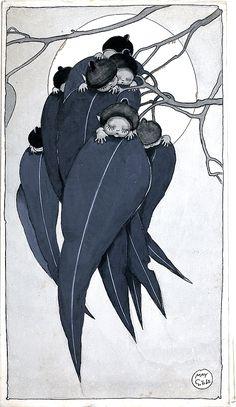 Book Illustrations - May Gibbs Australian Native Flowers, Australian Art, Mushroom Paint, Flannel Flower, Book Illustrations, Illustration Art, Baby Tattoos, Flower Fairies, Beautiful Paintings