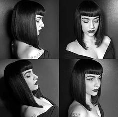 To fringe again or not to fringe Goth Hair, Grunge Hair, Vintage Hairstyles, Hairstyles With Bangs, Cabelo Pin Up, Hair Inspo, Hair Inspiration, Inspo Cheveux, Betty Bangs