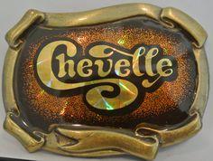 Retro Chevelle Chevy Belt Buckle Vintage Brass by RetroScents, $17.00