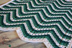 Sea Breeze Chevron Afghan #FREE #crochet #pattern by Crafting Friends Designs