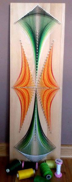 Wandgestaltung - Obraz z nitek String art - ein Designerstück von MagStringArt bei DaWanda