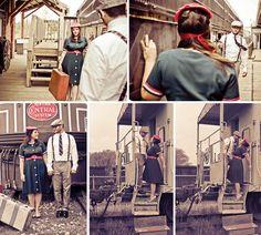 adorable vintage engagement photos