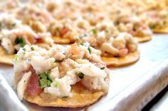 Another terrific appetizer at the #SanLuisObispo wedding was our refreshing and satisfying Tostadita de Ceviche. Made with ocean-fresh red snapper, it truly was a treat for the eyes & a gift for the palate.  More: https://www.sohotaco.com/2016/03/21/last-saturdays-red-snapper-ceviche-was-refreshing-and-satisfying #tacocatering #slowedding #weddingideas #hollandranch @thehollandranch