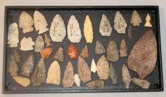 Colección de puntas de flecha indias americanas