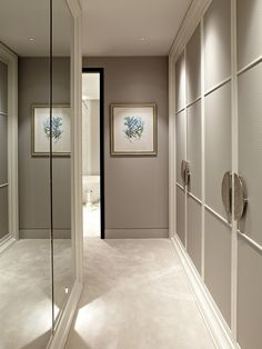 Luxury wardrobe design in hallyway