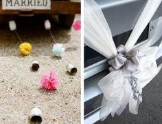 Decoración coche de boda