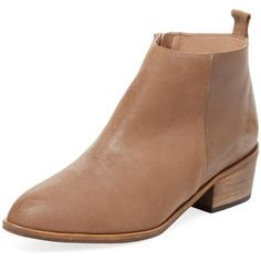 Firth Women's Mid Heel Ankle Bootie - Camel, Size 37 (4.735 RUB) ❤ liked on Polyvore featuring shoes, boots, ankle booties, camel, leather boots, platform ankle boots, platform boots, camel booties and ankle boots