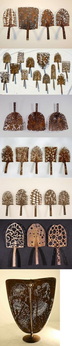 Artist Denice Bizot Artistically Carves New Life into Discarded Shovel Heads